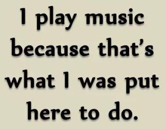 I play music